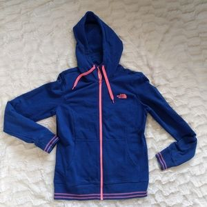 The North Face Zip Up Blue Hoodie